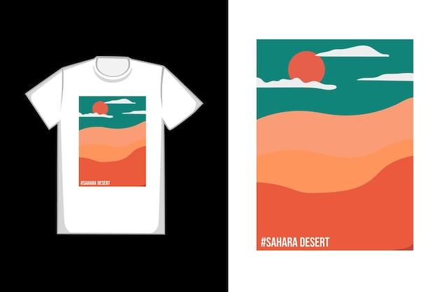 T-shirt com design do deserto do saara durante o dia