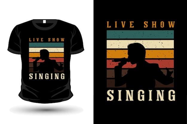 T-shirt com silhueta de mercadoria retrô rock and roll