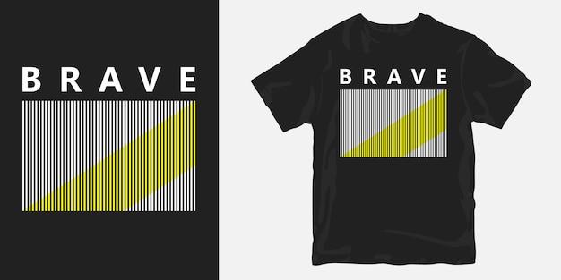 T-shirt corajoso slogan curto
