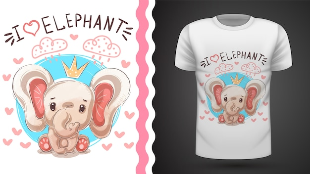 T-shirt da princesa do elefante