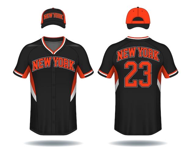 T-shirt de beisebol simulado acima.