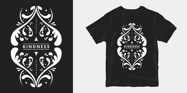 T-shirt de bondade com ornamento