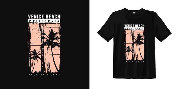 T-shirt de califórnia da praia de veneza