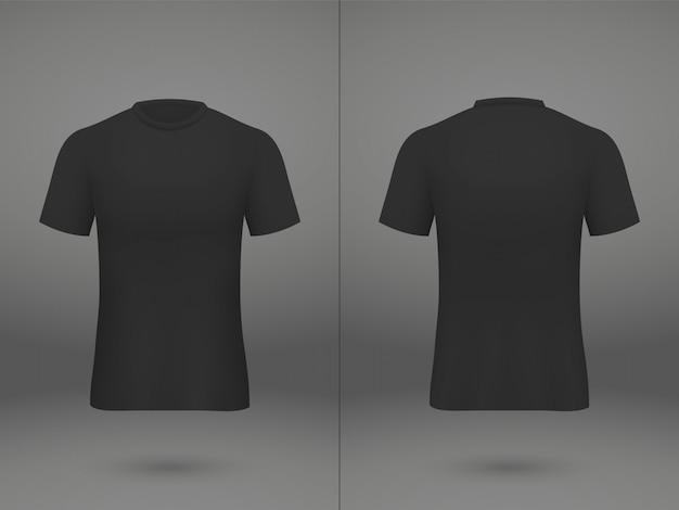 T-shirt de camisa de futebol realista modelo na loja