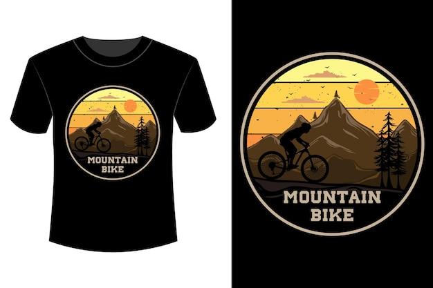 T-shirt de mountain bike com design vintage retro