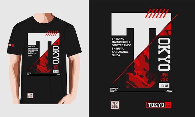 T-shirt de tóquio e design de vestuário premium