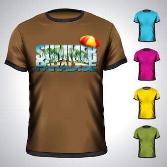 T-shirt de vetor com ilustração de férias de verão