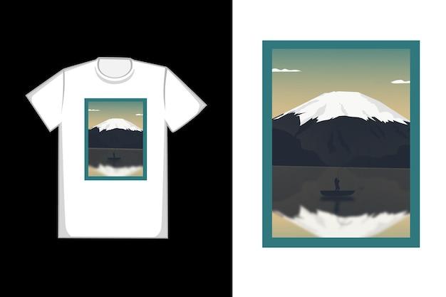T-shirt design a montanha é maravilhoso