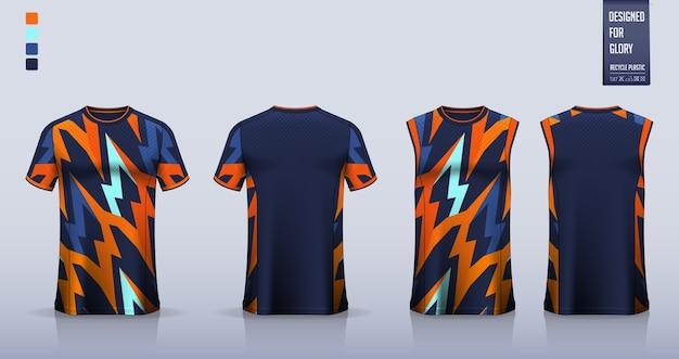 T-shirt, design de modelo de camisa esporte para camisa de futebol, kit de futebol. camiseta regata para camisa de basquete ou camiseta para corrida.