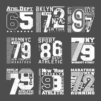 T-shirt design de selo de impressão