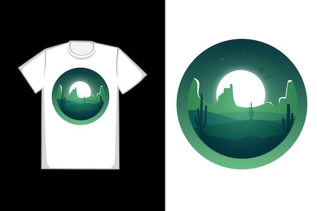 T-shirt design o deserto é verde