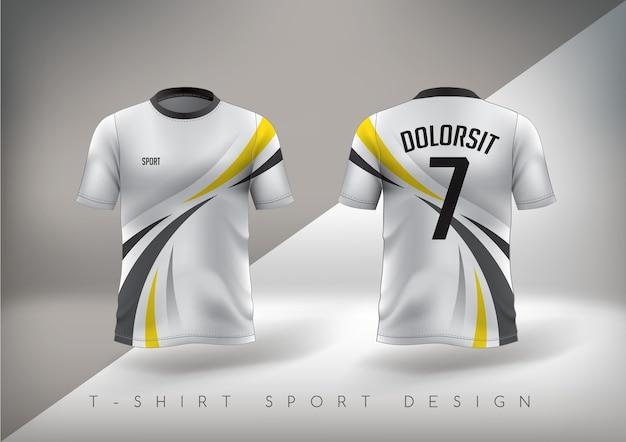 T-shirt desportiva de futebol justa com gola redonda.