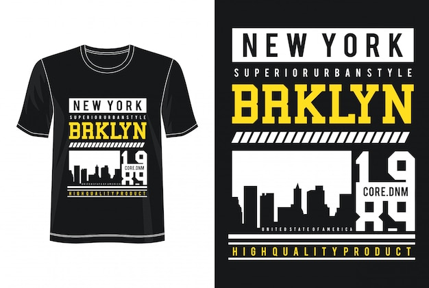 T-shirt do design do design de new york