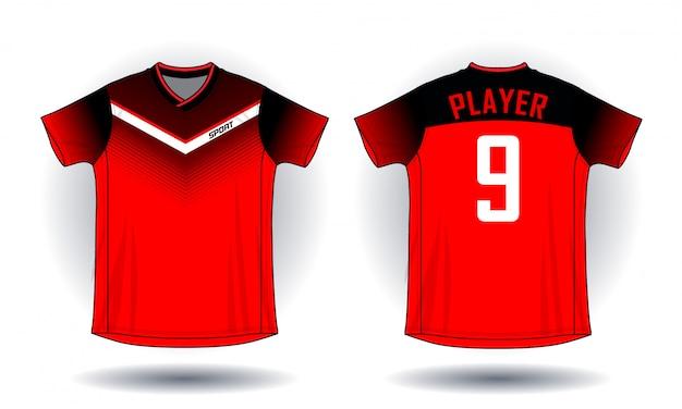 T-shirt do esporte do jérsei de futebol