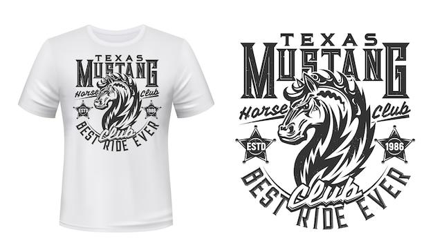 T-shirt do garanhão mustang selvagem