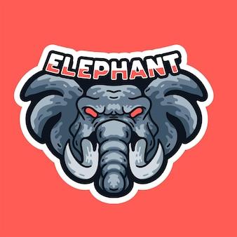T-shirt do rei elefante ilustração mascotes com design vintage