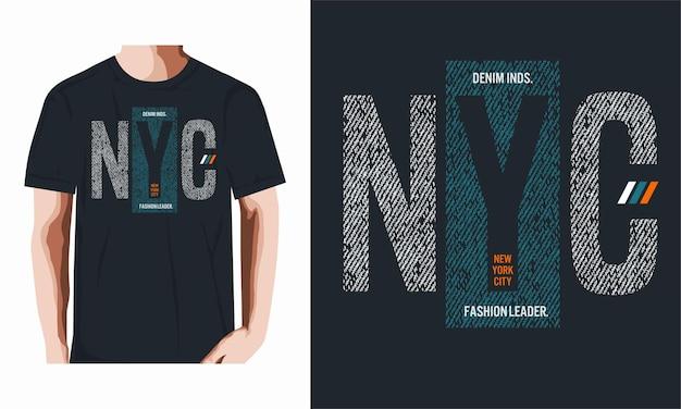 T-shirt e design de roupas de nova iorque