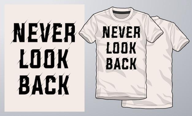 T-shirt e design moderno de vestuário, tipografia.