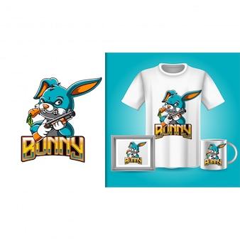 T-shirt e merchandising de coelho