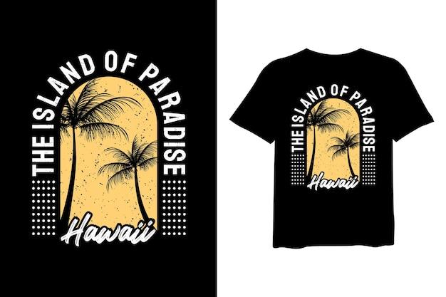 T-shirt hawai design