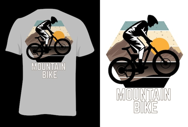 T-shirt mock up mountain bike retro estilo vintage