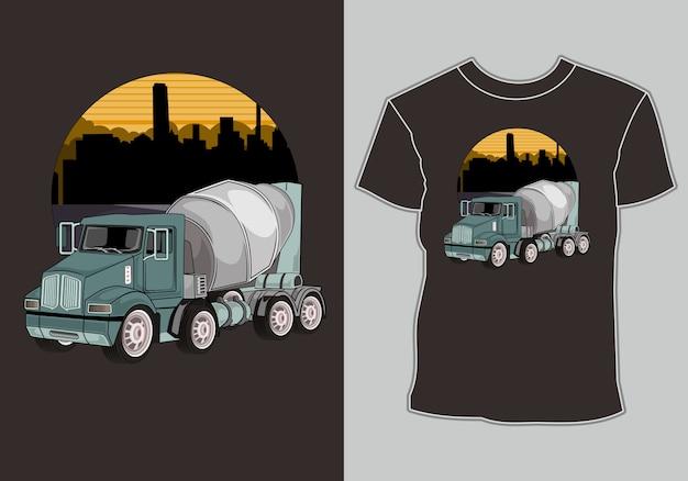 T-shirt para amante de caminhão