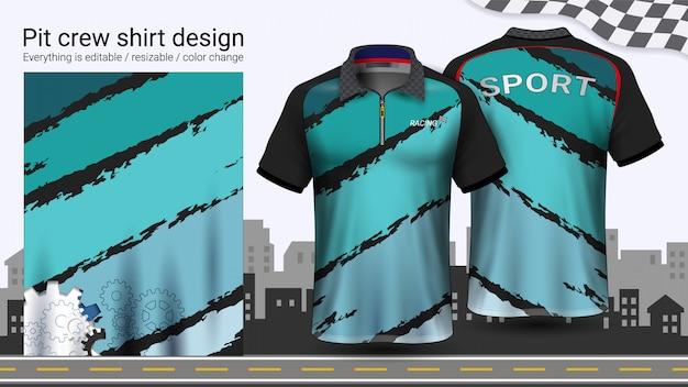 T-shirt polo com zíper