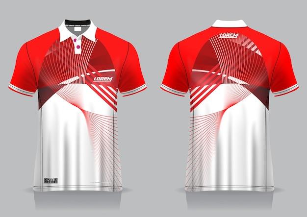 T-shirt polo esporte design, maquete de badminton jersey para modelo uniforme