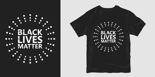 T-shirt preto da matéria das vidas