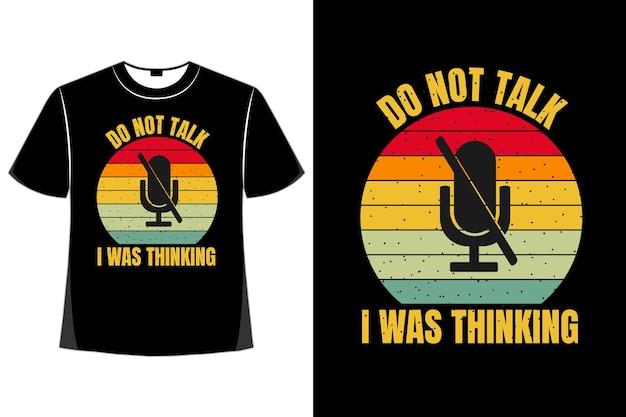T-shirt silhueta microfone retro estilo vintage