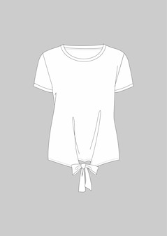 T-shirt técnica de manga curta com gravata da moda