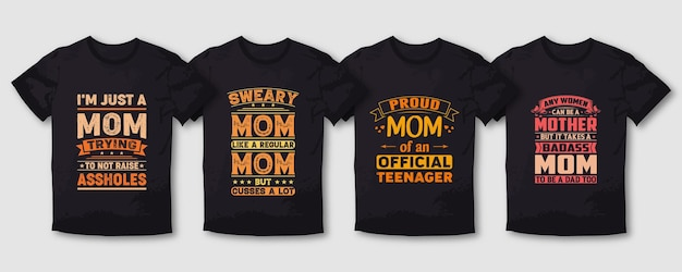 T-shirt tipografia orgulhosa mãe mãe