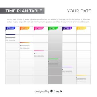 Tabela de plano de tempo