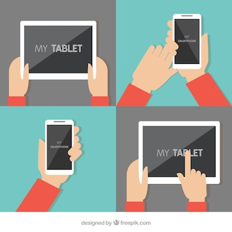 Tablet e telefone móvel