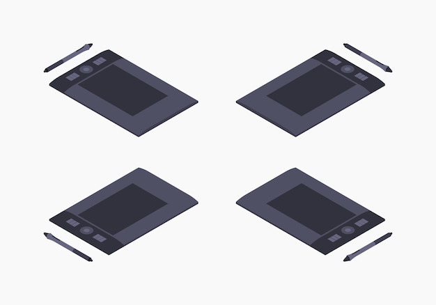 Tablet gráfico isométrico