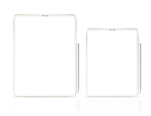 Tablets profissionais inteligentes com lápis gráfico.