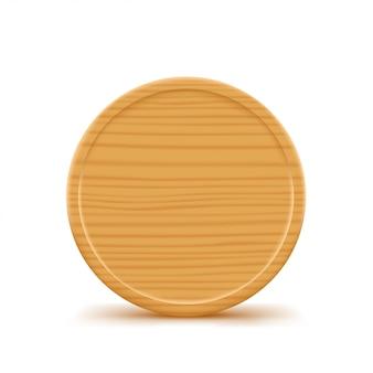 Tábua redonda de madeira