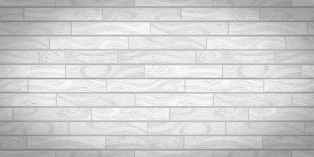 Tábuas de madeira brancas realistas com textura