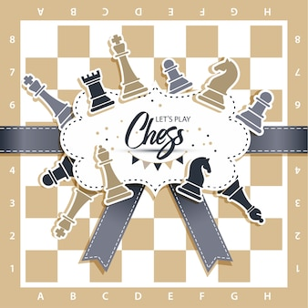 Tabuleiro de xadrez com figuras