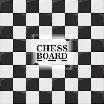 Tabuleiro de xadrez, ilustração em vetor design colorido