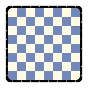 Tabuleiro de xadrez plana vista superior