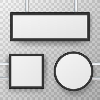 Tabuleta de caixa de luz de sinalização retangular.