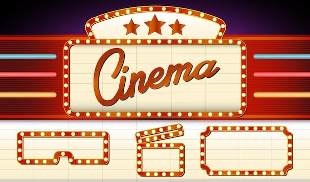 Tabuleta de cinema vintage