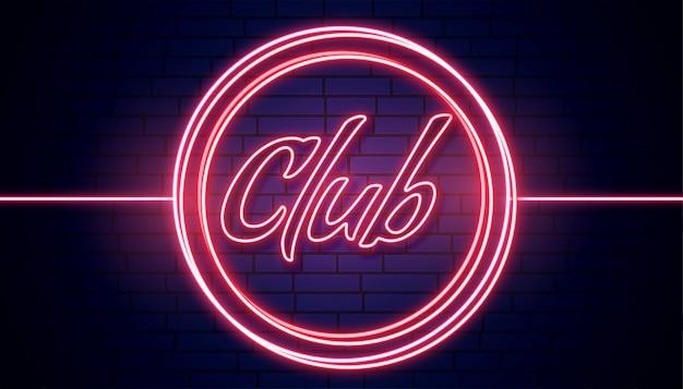 Tabuleta de clube em fundo vermelho nelights