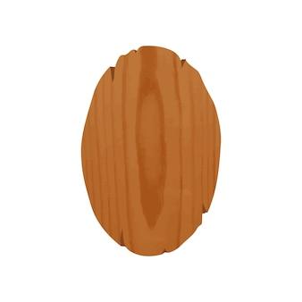 Tabuleta de madeira oval trabalhada à mão com lugar para promoção ou propaganda. placa envelhecida em forma de elipse isolada no fundo branco. elemento de design decorativo. ilustração em vetor colorido dos desenhos animados.