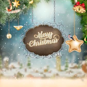 Tabuleta de natal vintage.