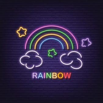 Tabuleta de néon arco-íris