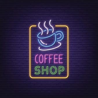 Tabuleta de néon de café