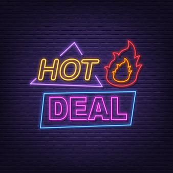 Tabuleta de néon de negócio quente