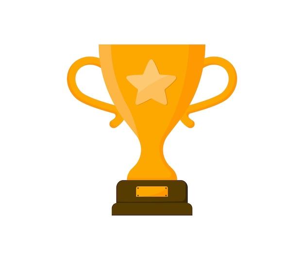 Taça de ouro do troféu taça do vencedor em estilo simples